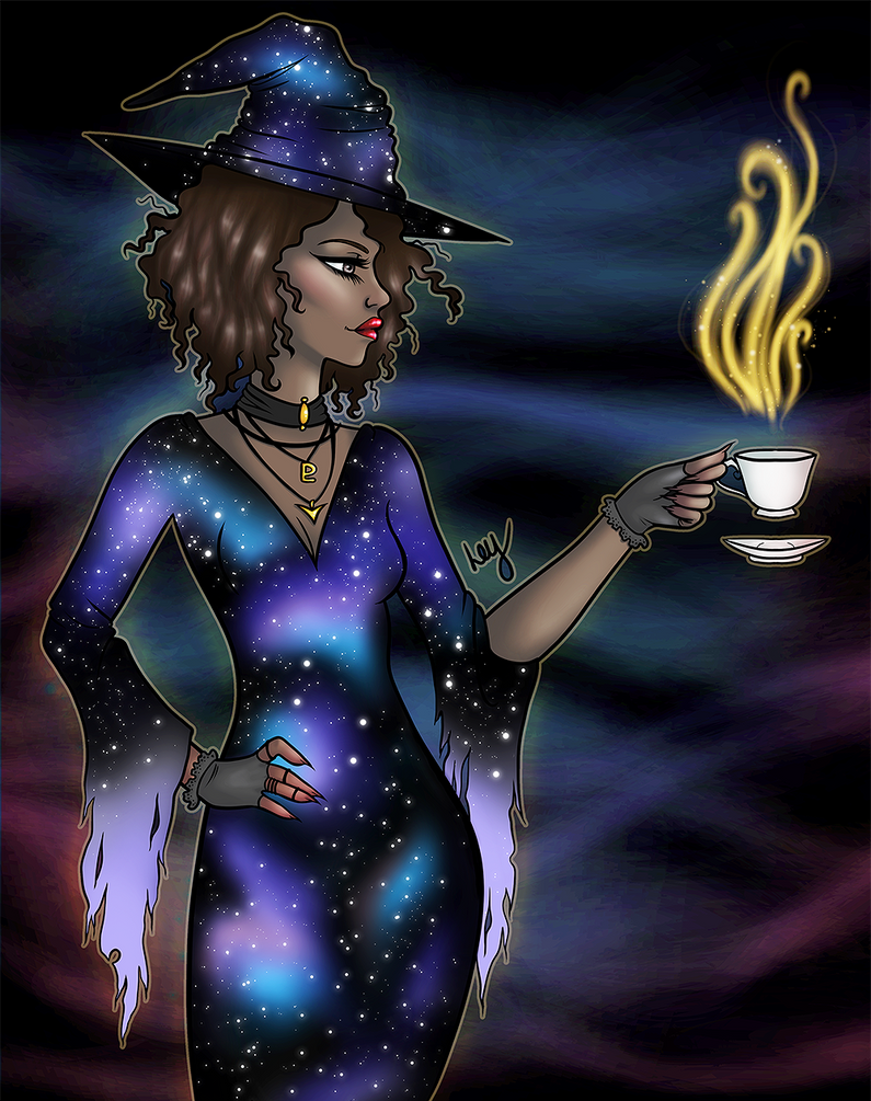 Galaxy Witch by leys