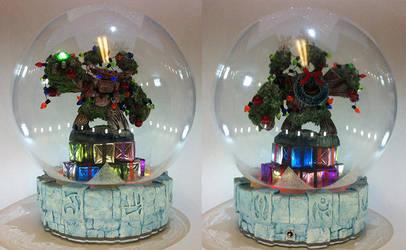 Christmas Tree Rex Waterless Snow Globe by crimsonprinny