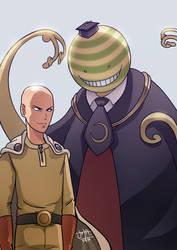 Saitama vs Koro-sensei by jotailustrador