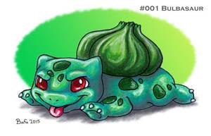 #001 Bulbasaur by Bafa
