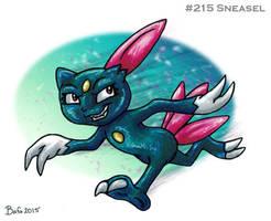 #215 Sneasel by Bafa