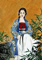 Lady of the Garden by VforVieslav