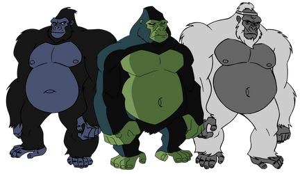 A bunch of DC Fatass Gorillas by DC-Fat-Gorillas
