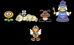 I Colored ALL Undertoad Sprites by REDBIRD030