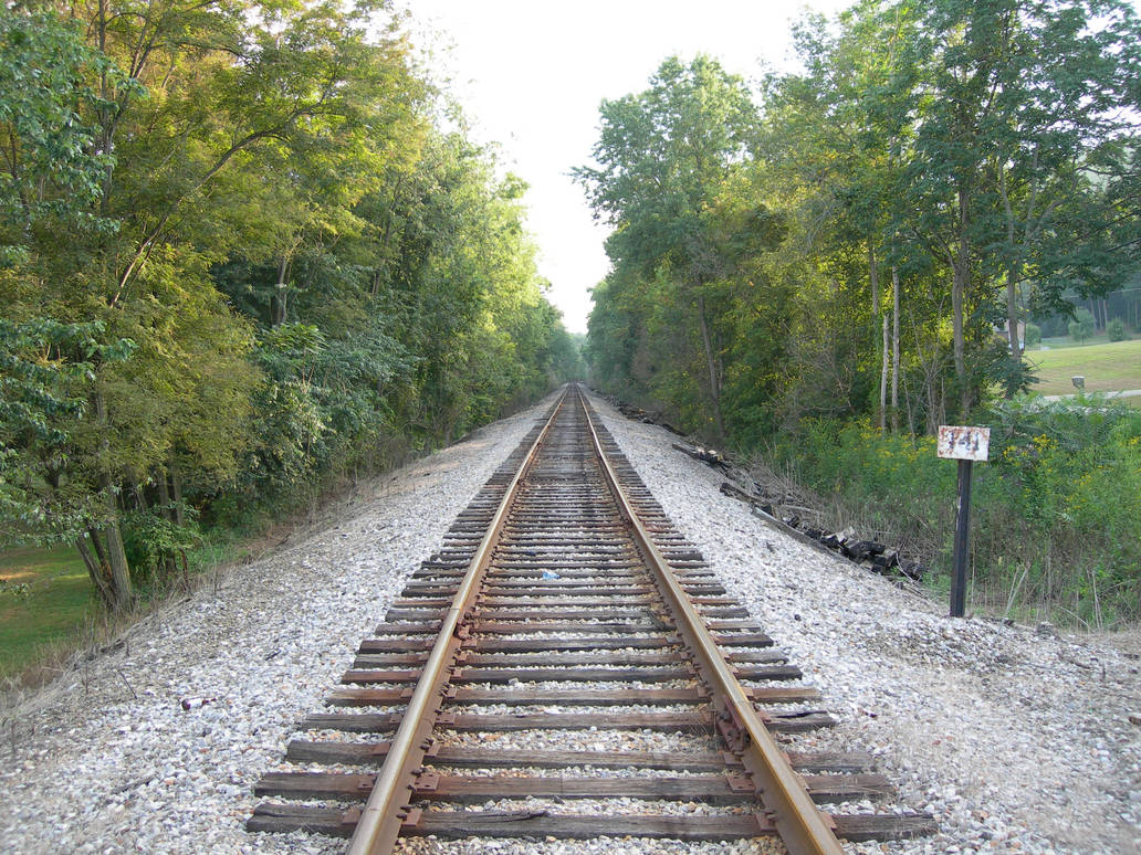 Train Track Stock by alienjacki-stock