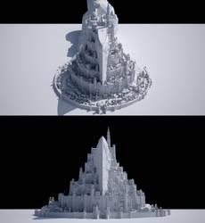 Minas Tirith by 3DEllesar