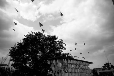 Paper flies. Fact. by xchingx