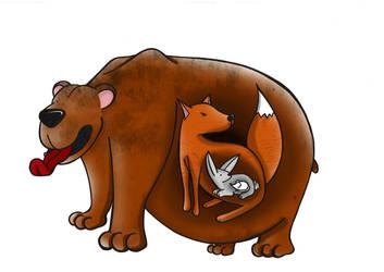 Bear-fox-rabbit-mouse by xchingx