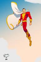 Captain Marvel, old school by AdamMasterman