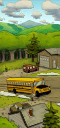 Comics On The Bus by AdamMasterman