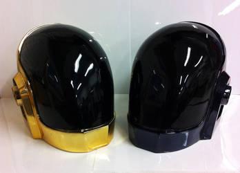Daft Punk Guy Manuel Helmets by yeogybear