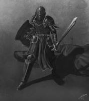 Horseless knight by Althwen