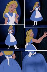 Alice's transformation page 1 by SerisaBibi