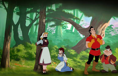 Belle and Cinderella Peasants in Peril by SerisaBibi