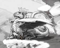 silver dragon by KGBigelow