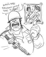 Tourettes Soldier doodle by KGBigelow