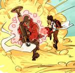 speed commish - soldier/lady medic adventure by KGBigelow