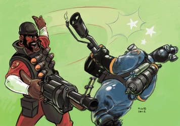 Demoman Backhands Pyro by KGBigelow
