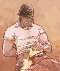 Sketch Dump - Regulation Helmet by KGBigelow