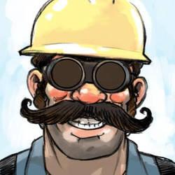 Speed Commish - mustachio engineer by KGBigelow