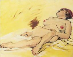 female nude in oils by KGBigelow