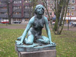 Girl statue 02 by CAStock