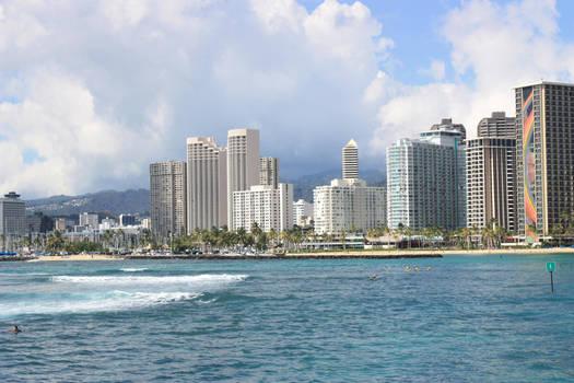 Waikiki skyscrapers by CAStock