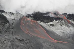 Flowing lava by CAStock