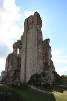 Corfe castle tower by CAStock