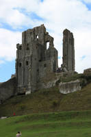 Corfe castle main towers by CAStock