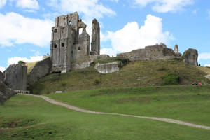 Corfe castle hill by CAStock