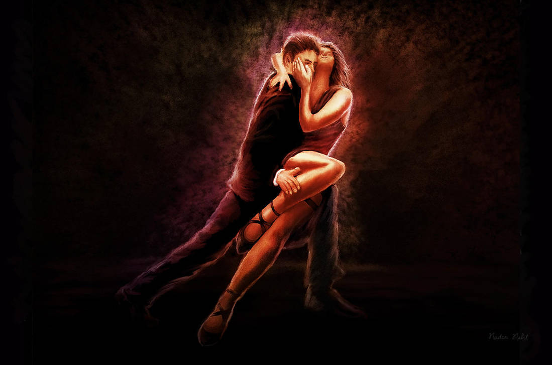 Tango Dancing Couple by naderdes