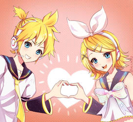 Happy 11th, Kagamine Rin and Len!  by mikmix