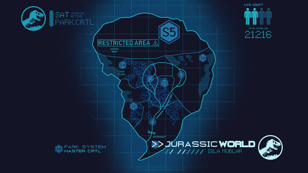 Jurassic World Map By Teslarex On Deviantart