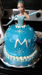 elsa cake by mangalover101
