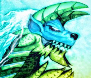 The Fierce Thunder Wolf Zinogre by Kane-Dendou