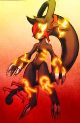 Mega Mewtwo Y/Primal Groudon Fusion by Kane-Dendou