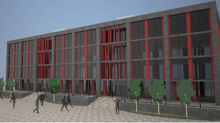 SketchUp Speedbuild - Office Building #5 by Wrightie99