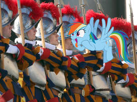 Swiss Guard - Rainbow Dash by normanb88
