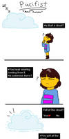 Frisk meets Scootaloo by synnibear03