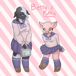 Betty and Poppy by synnibear03