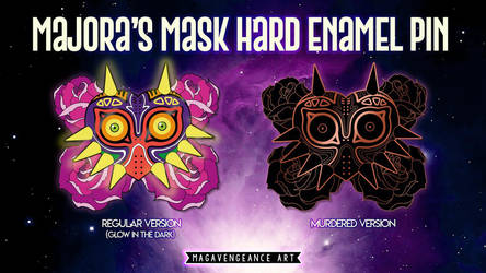 Majora's Mask hard enamel pin (Kickstarter) by maga-a7x