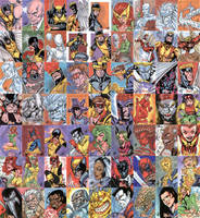 X-Men Archives Sketchcards by stalk