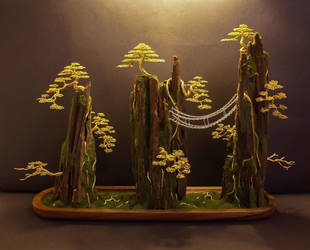 Wire Bonsai tree sculpture made by Steve Bowen by BowenBonsai