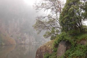 Fog Rock Riverside by DruidWuStock