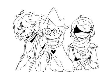 Susie, Ralsei and Kris - Delta Rune by derMxnd