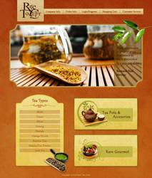 Rare Tea Cellar Website Design by ujala