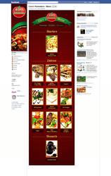 Interactive Restaurant Menu on Facebook by ujala