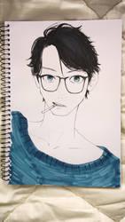 Blue Sweater by iilLuminair