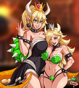 Bowsette and Rosalina by 7th--Heaven